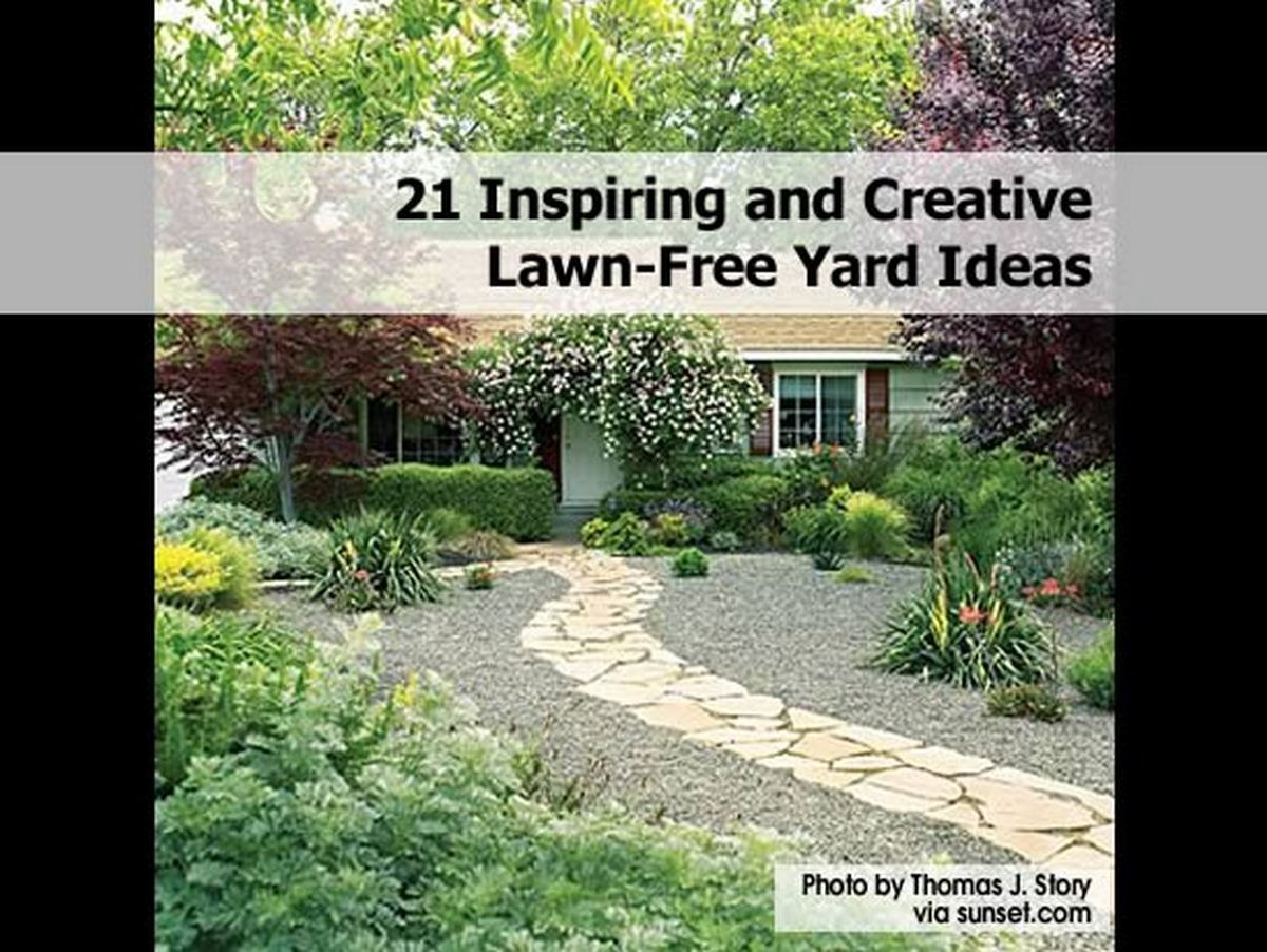 21 inspiring and creative lawn free yard ideas. Black Bedroom Furniture Sets. Home Design Ideas