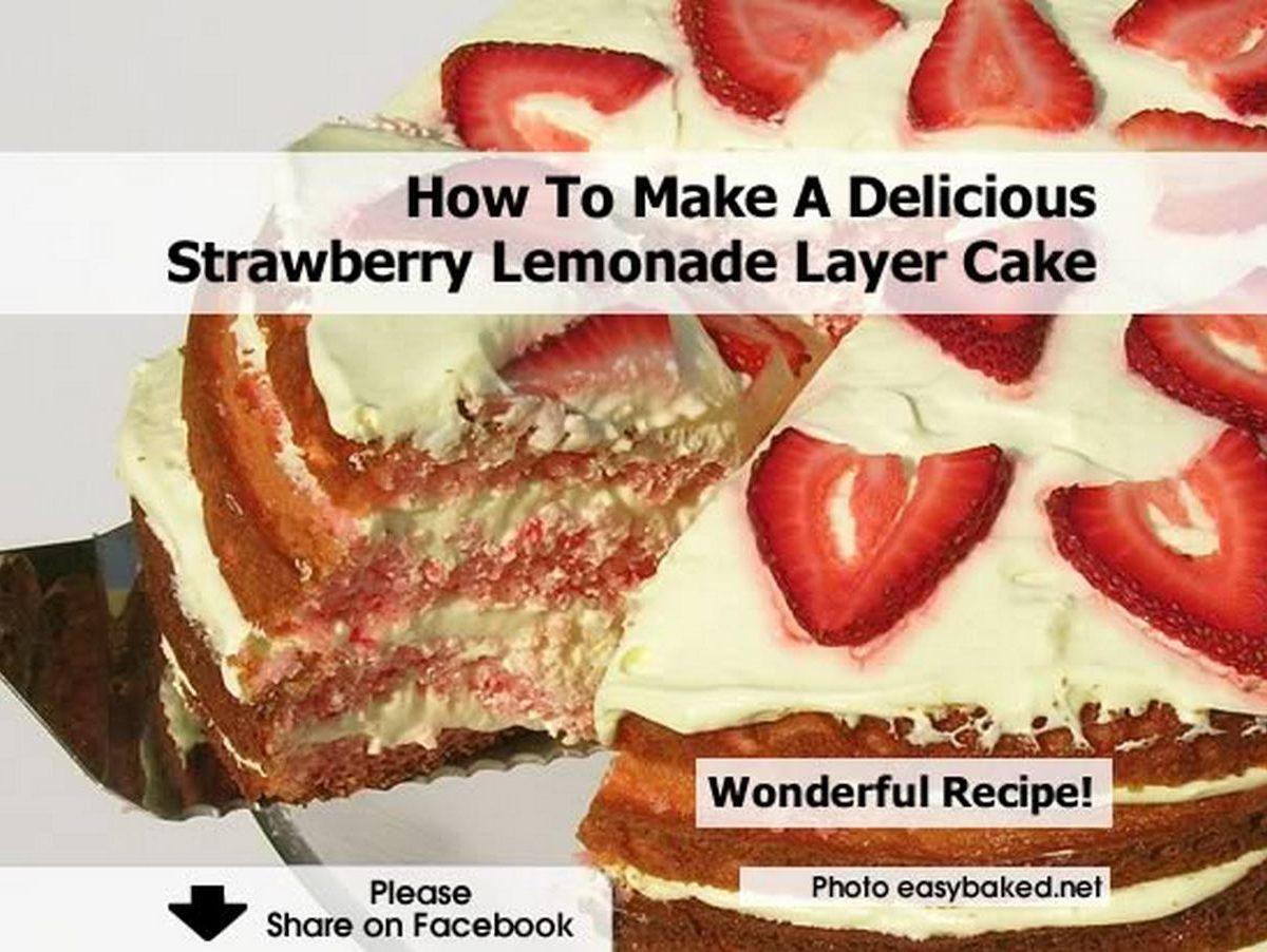 how to make strawberry lemonade cake