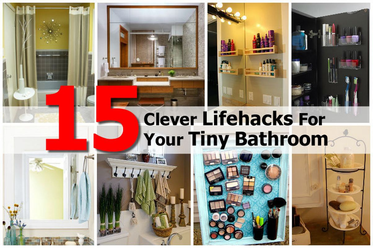 15 clever lifehacks for your tiny bathroom for Small bathroom hacks