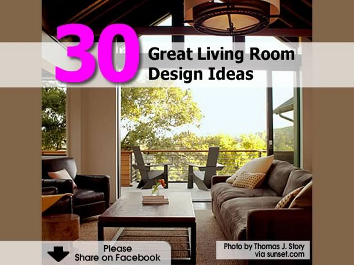 30 great living room design ideas for Great living room ideas