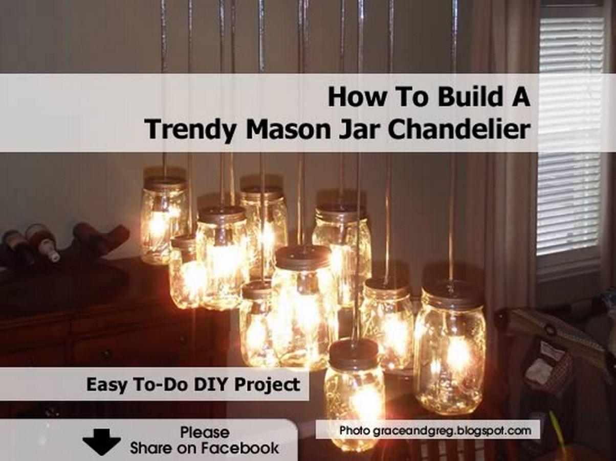 How To Build A Trendy Mason Jar Chandelier