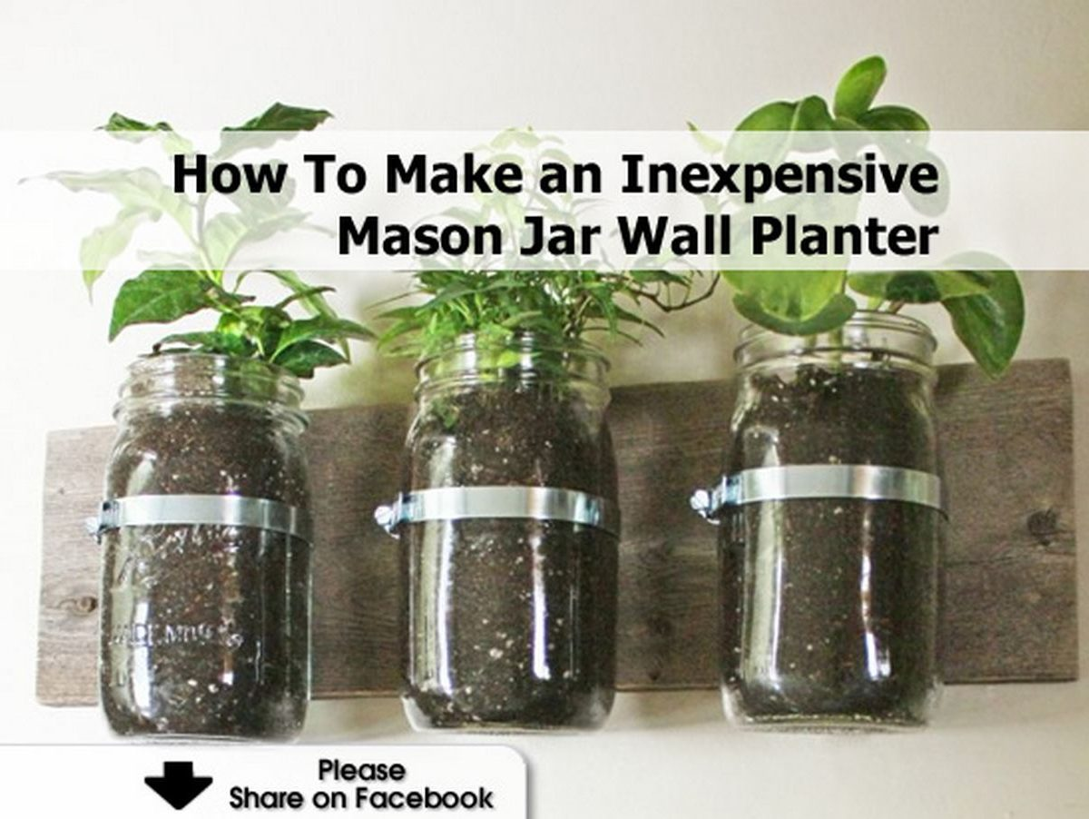 How to Make a Mason Jar Planter from an Old Frame. In this post: Make a mason jar planter from a large frame to use indoors or outdoors. It's an amazing before and after, that can be completed in an afternoon! Hello, new friends! Kelly here from North Country Nest. My soon-to .