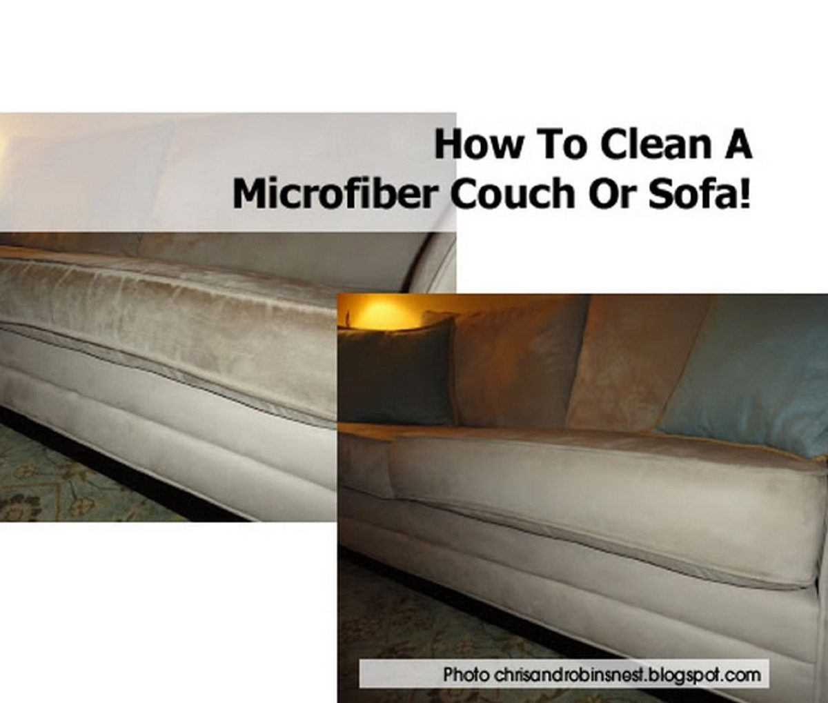 How To Clean A Microfiber Couch Or Sofa