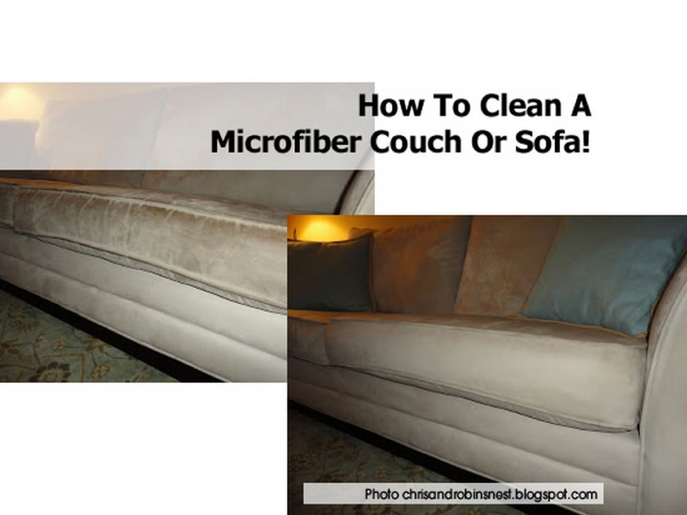 how to clean a microfiber couch or sofa. Black Bedroom Furniture Sets. Home Design Ideas