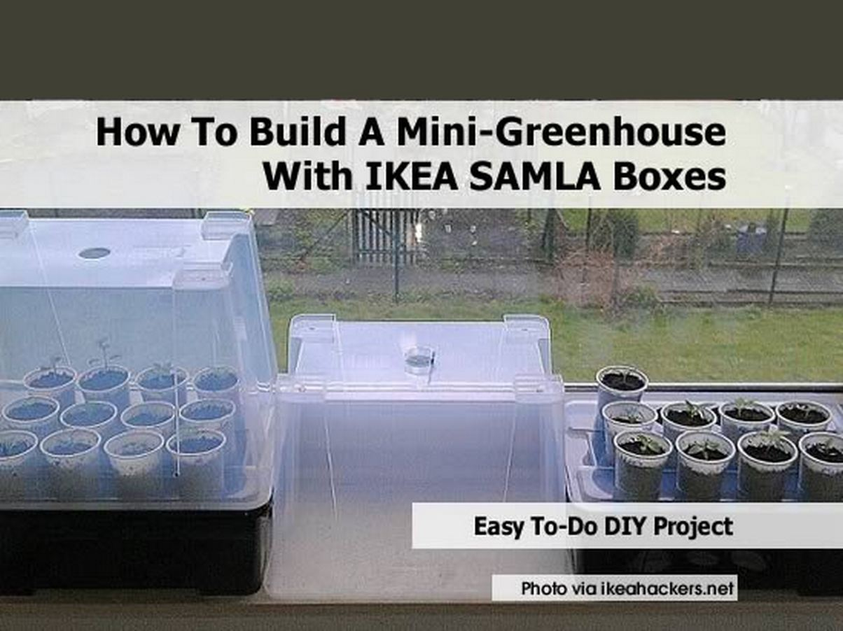 how to build a mini greenhouse with ikea samla boxes. Black Bedroom Furniture Sets. Home Design Ideas