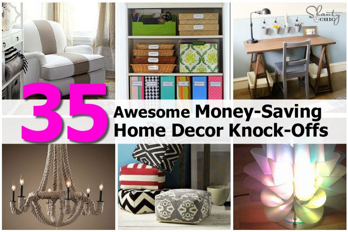 35 awesome money saving home decor knock offs - How to decorate a house with no money ...