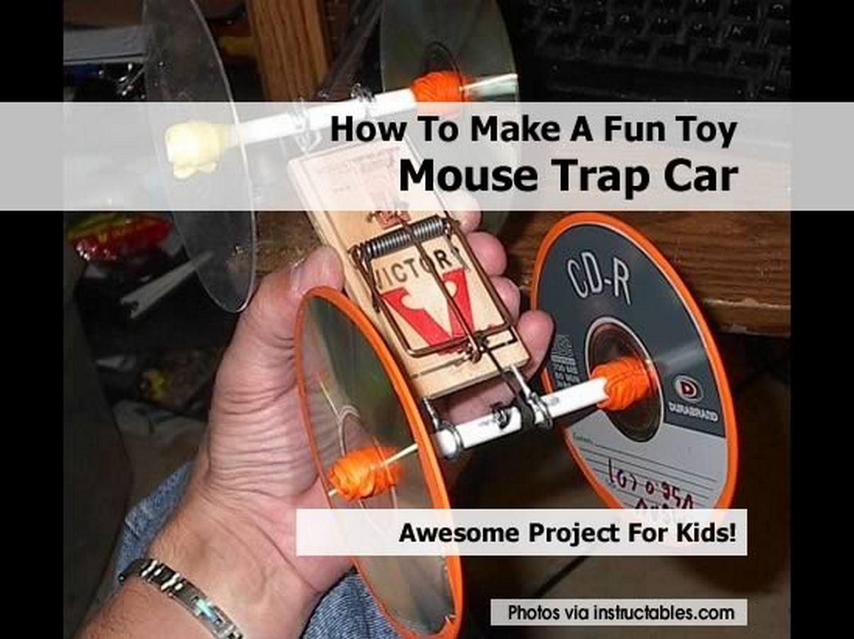 how to make a fun toy mouse trap car. Black Bedroom Furniture Sets. Home Design Ideas