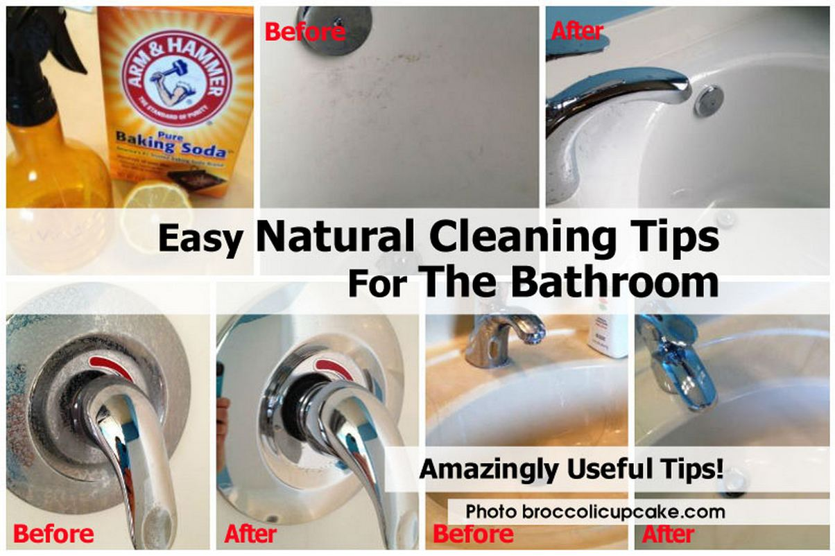 Easy Natural Cleaning Tips For The Bathroom