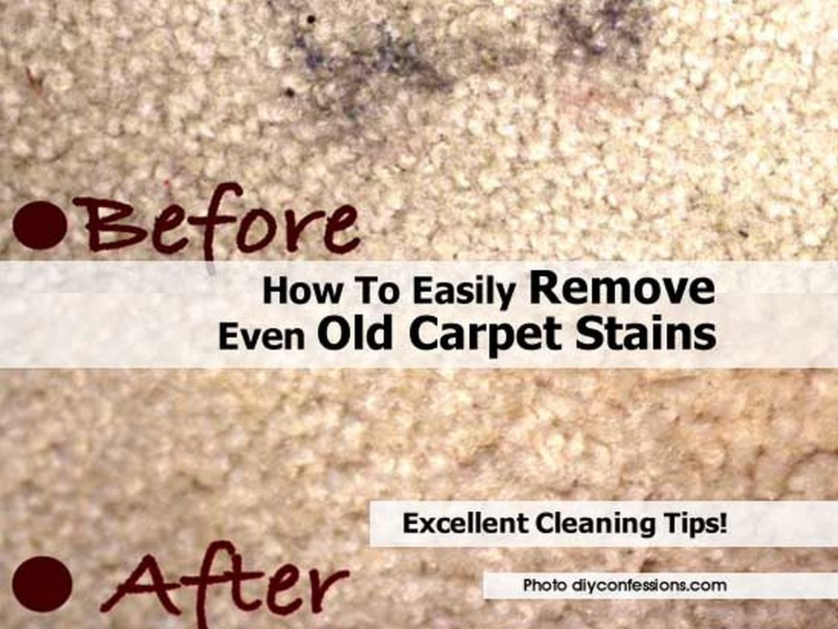 How to easily remove even old carpet stains for How to buy carpeting