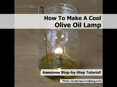 How To Make A Cool Olive Oil Lamp