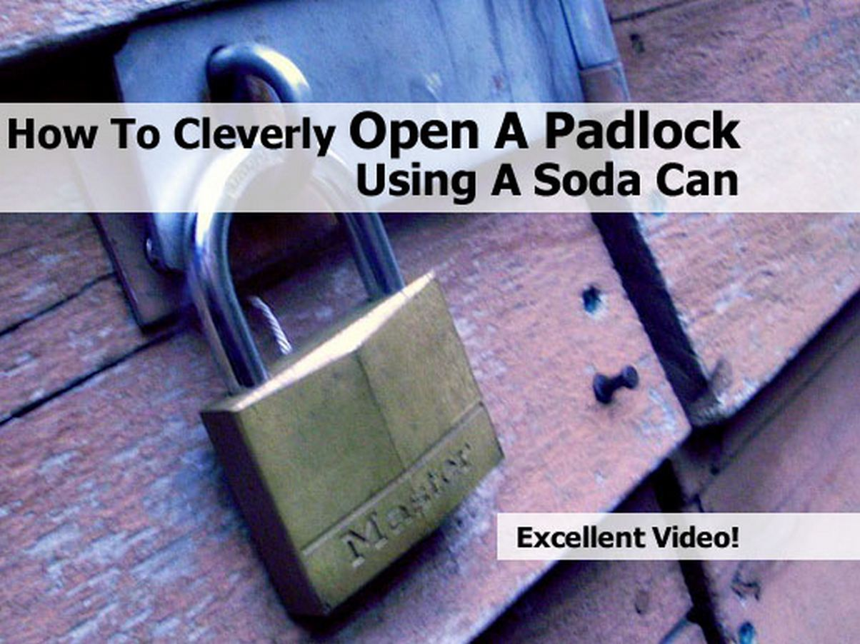 How do you open a padlock without a key