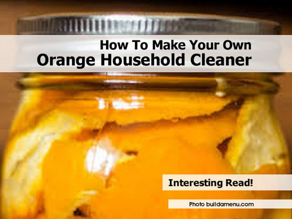 how to make your own orange household cleaner