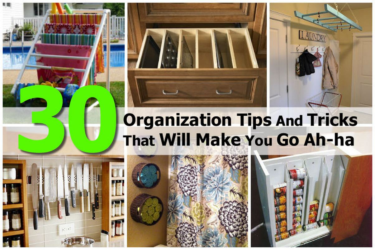 30 organization tips and tricks that will make you go ah ha Small home organization