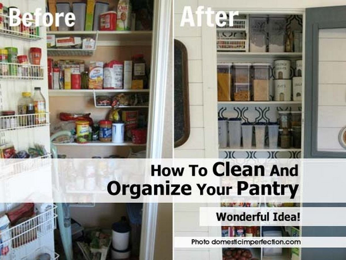 how to clean and organize your pantry
