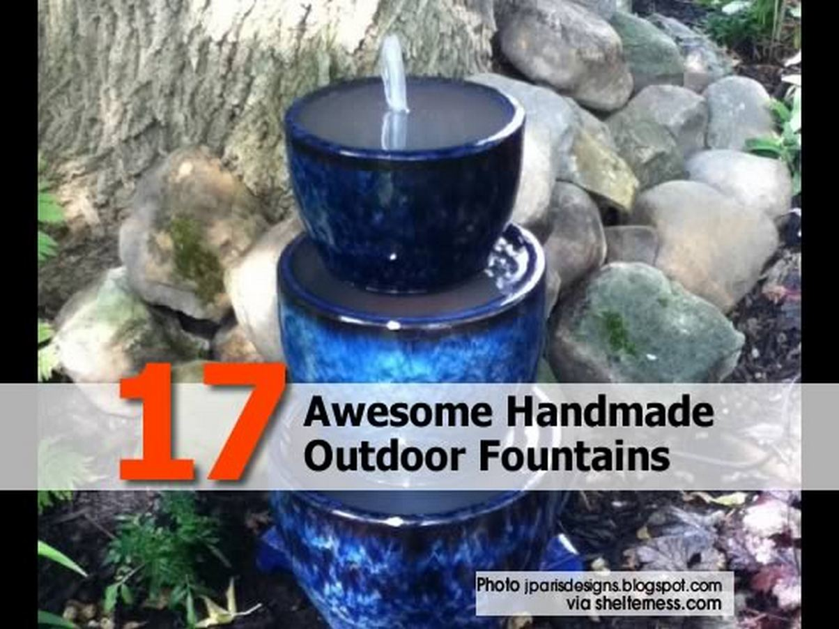 17 Awesome Handmade Outdoor Fountains