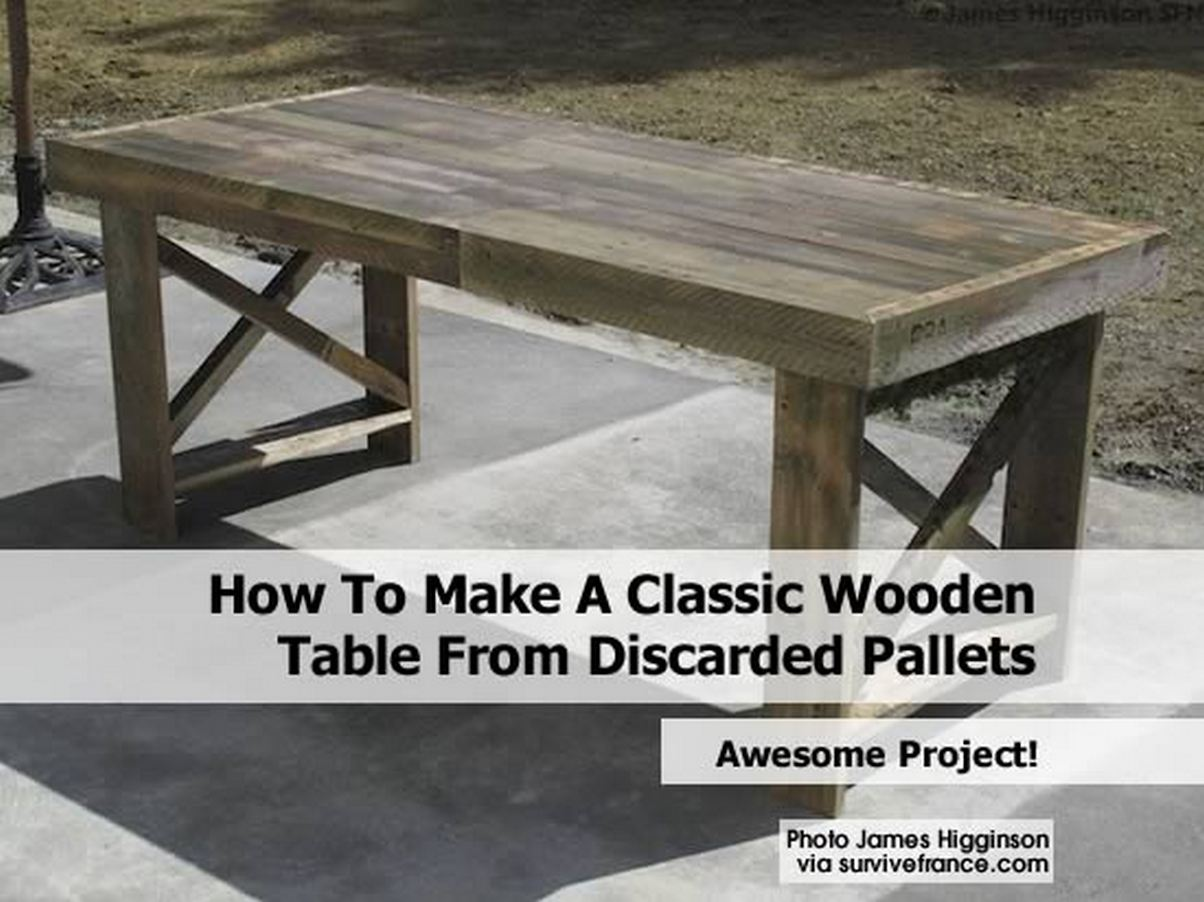 how to build an accent table from pallets