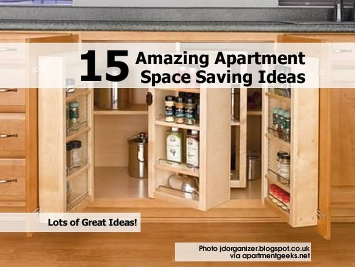 15 amazing apartment space saving ideas for Home space saving ideas