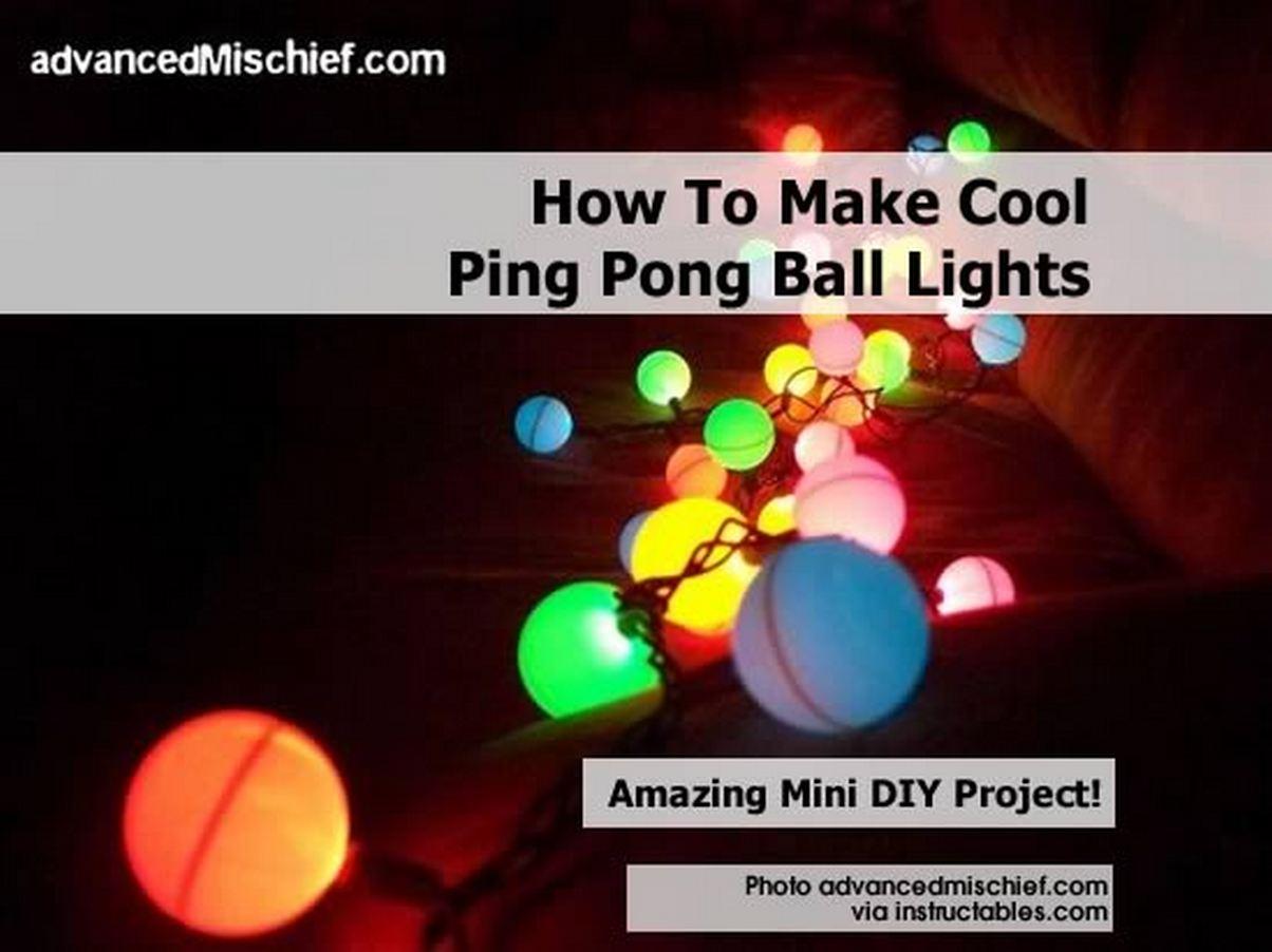 How to make cool ping pong ball lights - Ping pong christmas lights ...