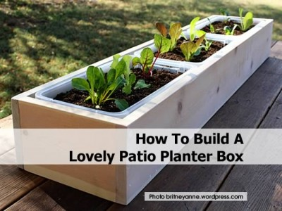 How to build a lovely patio planter box for How to build a cheap patio