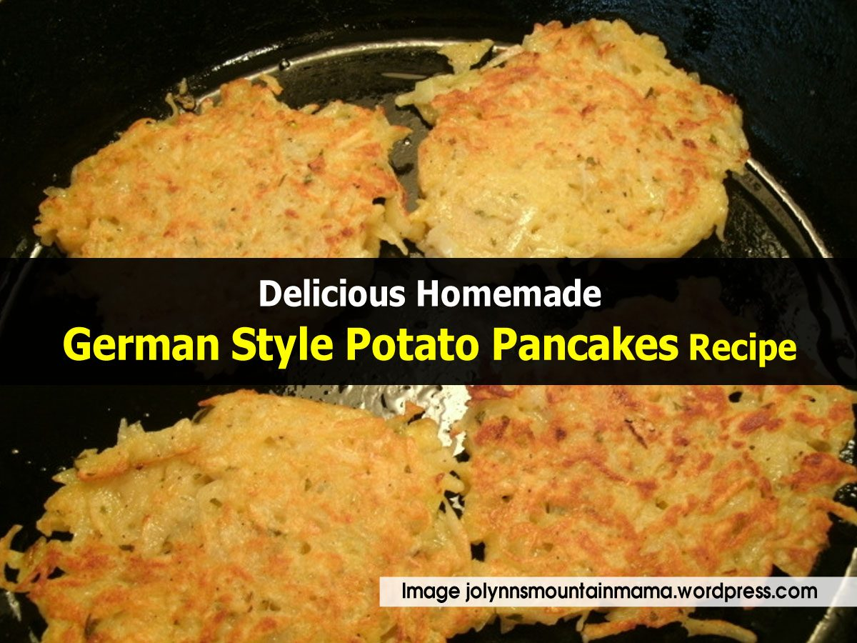 Delicious Homemade German Style Potato Pancakes Recipe