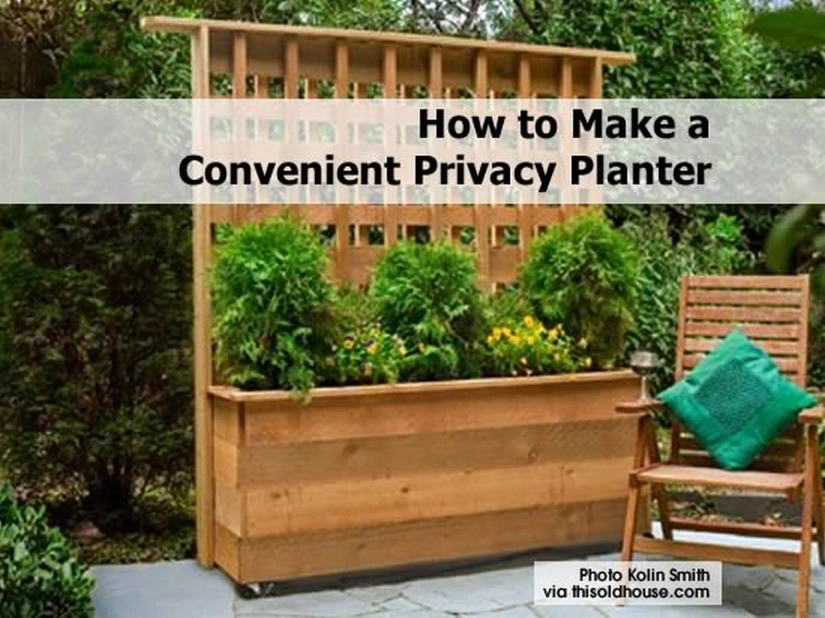 how to make a convenient privacy planter. Black Bedroom Furniture Sets. Home Design Ideas