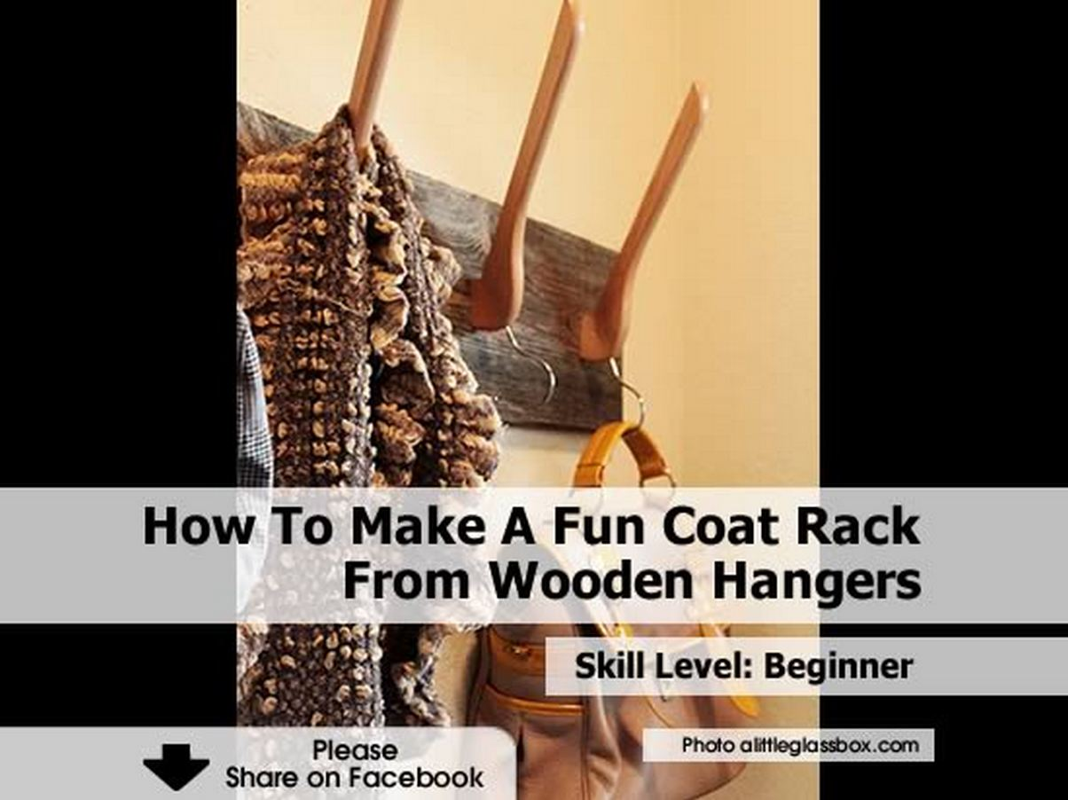 How To Make A Fun Coat Rack From Wooden Hangers. Full resolution‎  snapshot, nominally Width 1204 Height 902 pixels, snapshot with #BB8010.
