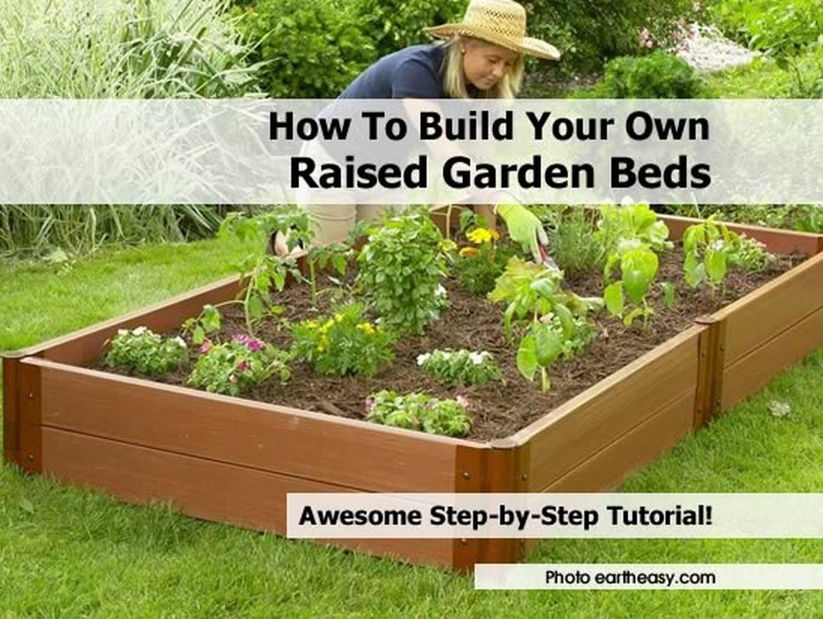 How to build your own raised garden beds for Landscape your own garden