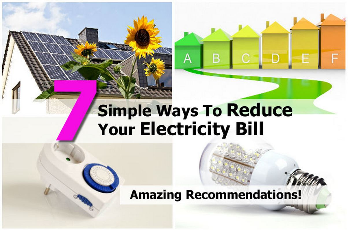 7 simple ways to reduce your electricity bill. Black Bedroom Furniture Sets. Home Design Ideas