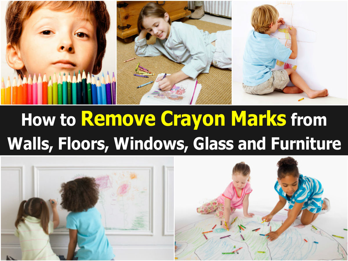 How to remove crayon marks from walls floors windows glass and furniture - Remove crayon walls ...