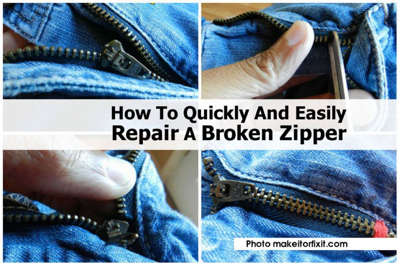 how to quickly and easily repair a broken zipper. Black Bedroom Furniture Sets. Home Design Ideas