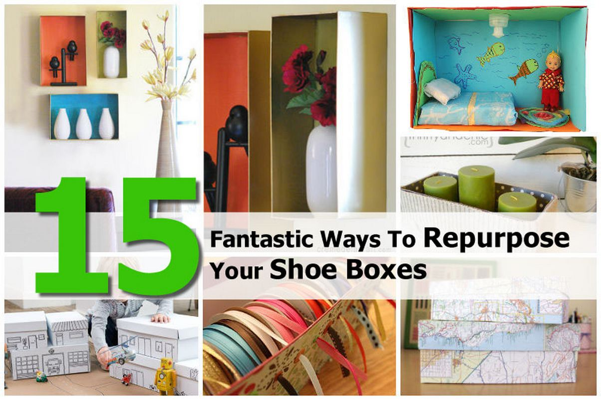 15 fantastic ways to repurpose your shoe boxes for Cool things to make out of a shoe box
