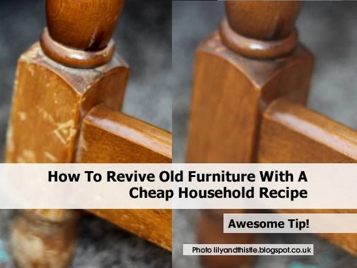 how to clean old wood furniture naturally