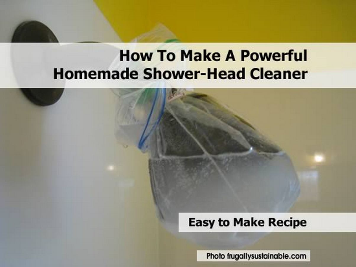How To Make A Powerful Homemade Shower Head Cleaner