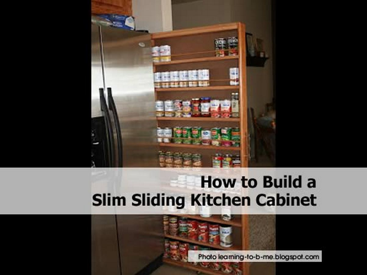 How to build a cabinet with sliding drawers out