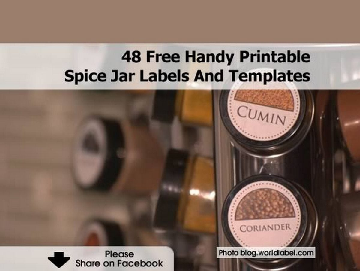 48 handy printable spice jar labels and templates