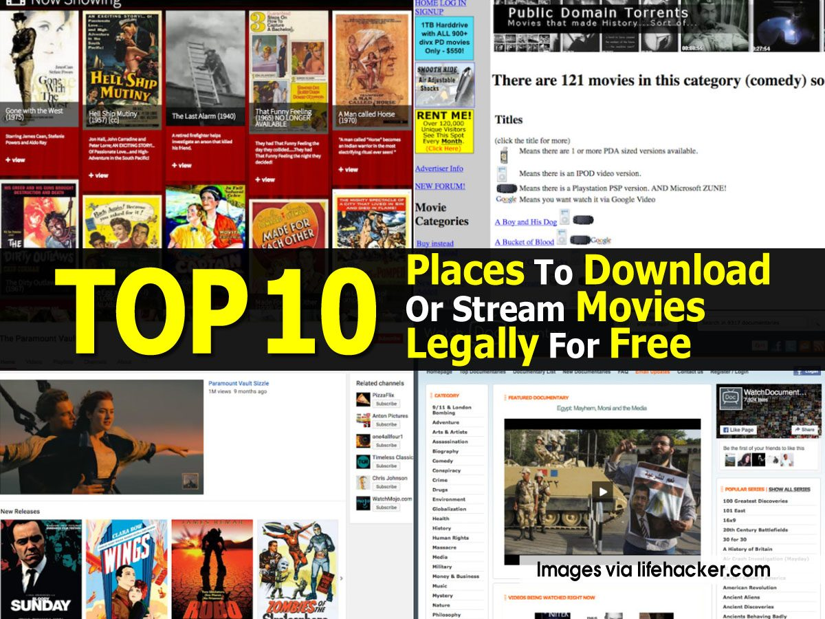 best place to download movies legally
