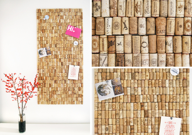 how to make a giant board from corks. Black Bedroom Furniture Sets. Home Design Ideas