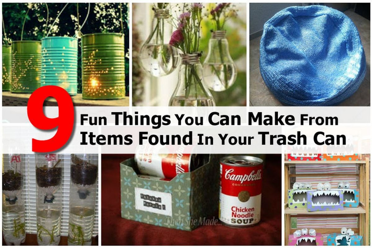 9 Fun Things You Can Make From Items Found In Your Trash Can
