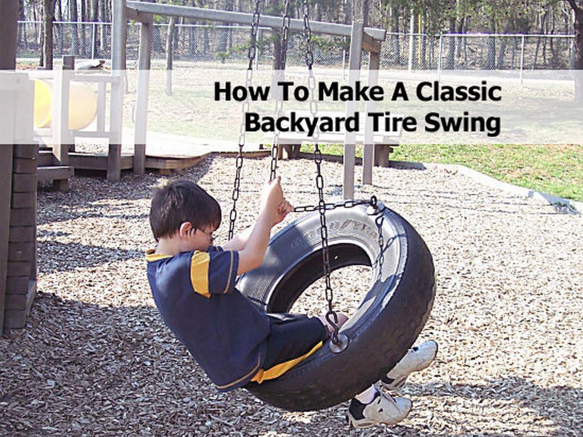 how to make a classic backyard tire swing