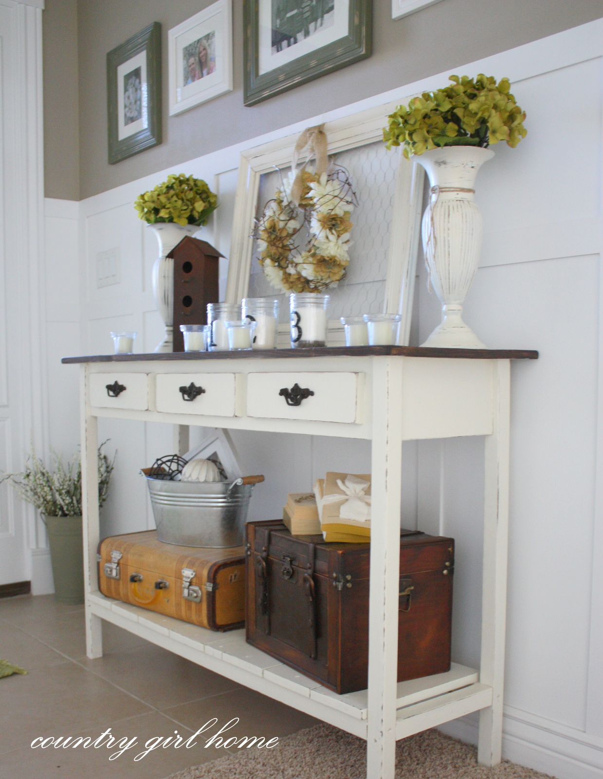 Foyer Hallway Table : Upgrading an entry table easy diy project