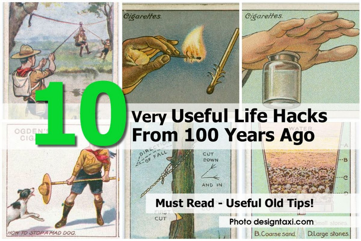 10 very useful life hacks from 100 years ago Cool household hacks