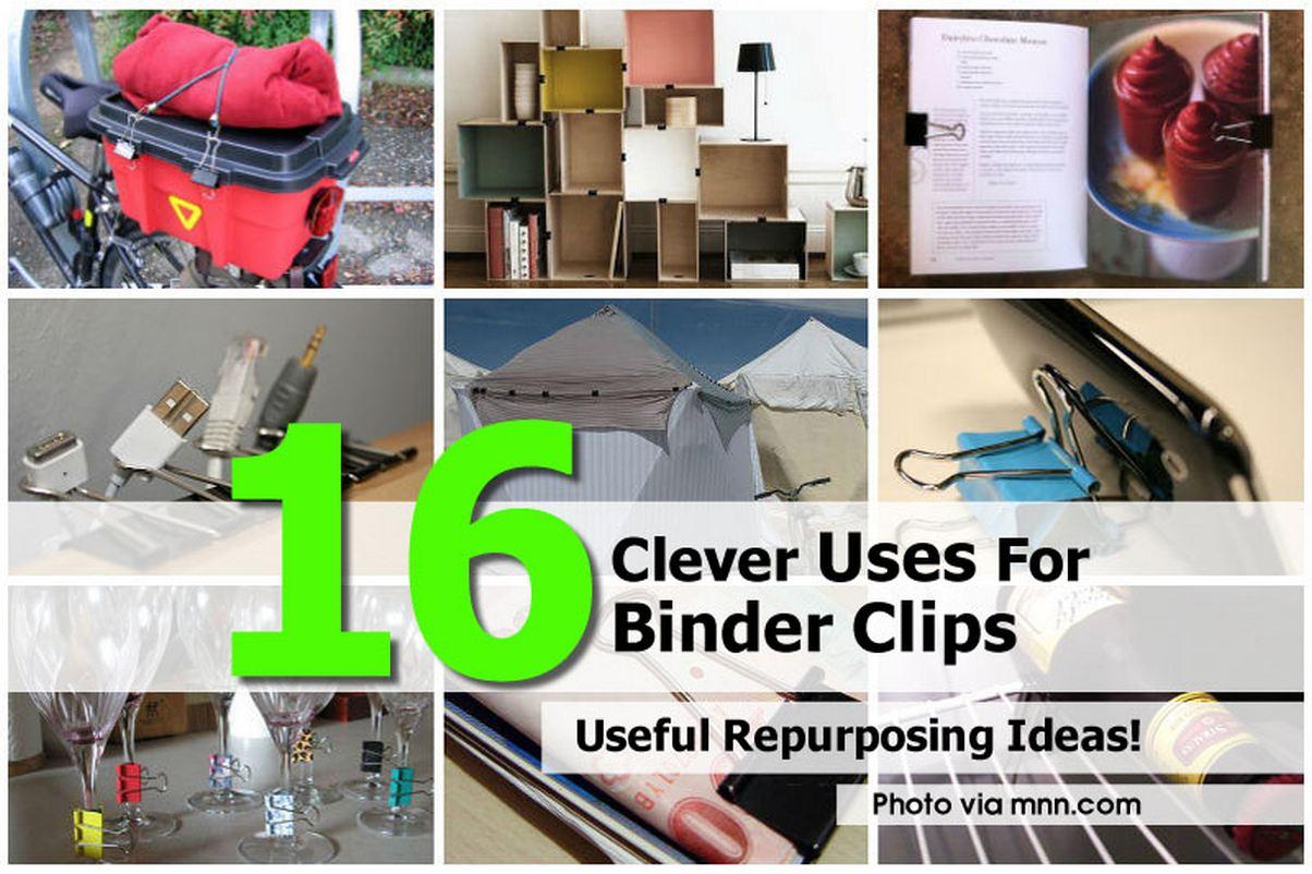 16 clever uses for binder clips. Black Bedroom Furniture Sets. Home Design Ideas