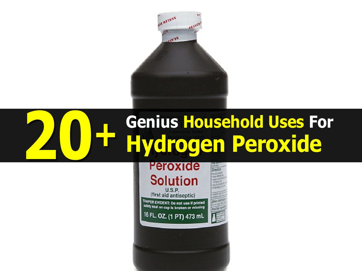 20  genius household uses for hydrogen peroxide