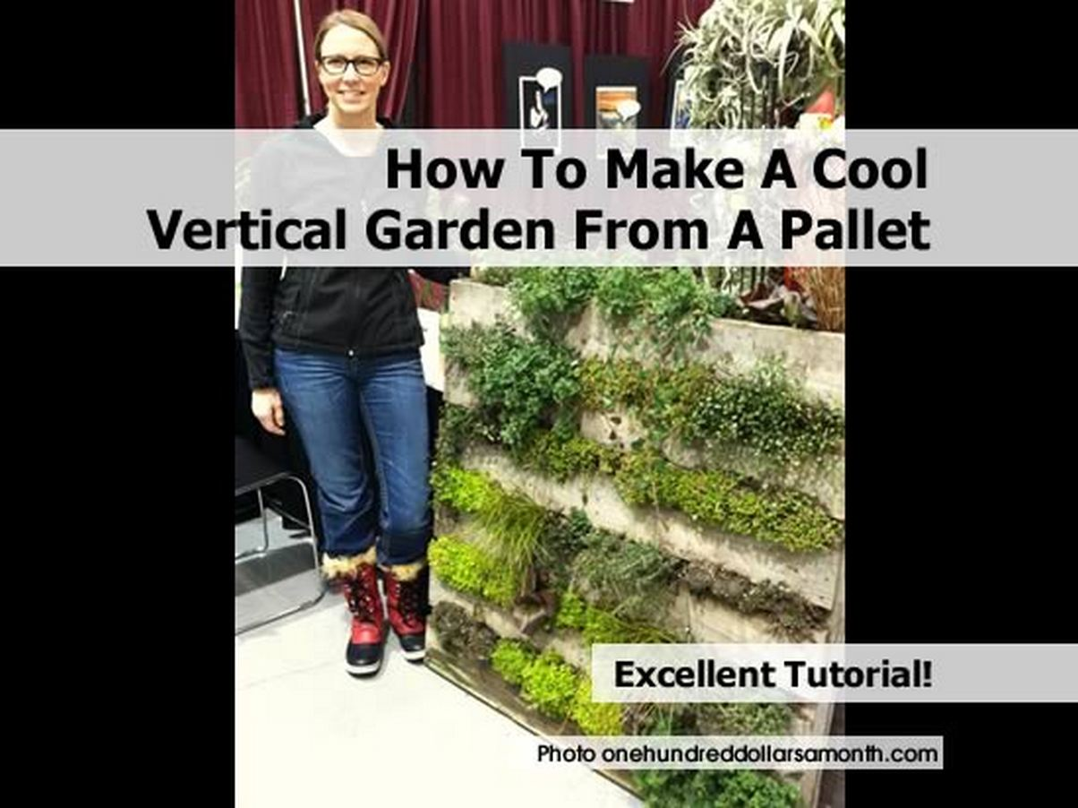 How to make a cool vertical garden from a pallet for How to build a vertical pallet garden