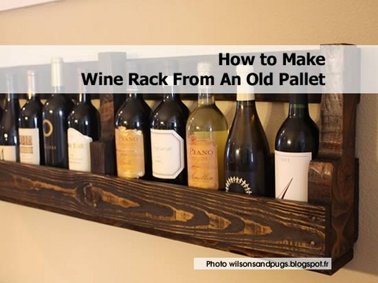 How to make wine rack from an old pallet for How to make a simple wine rack