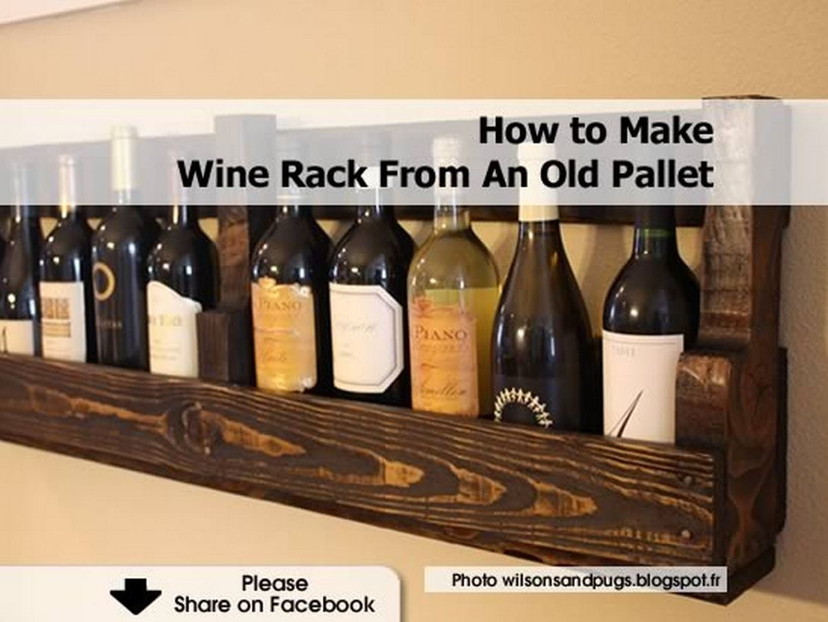 How to make wine rack from an old pallet - Make good house wine tips vinter ...