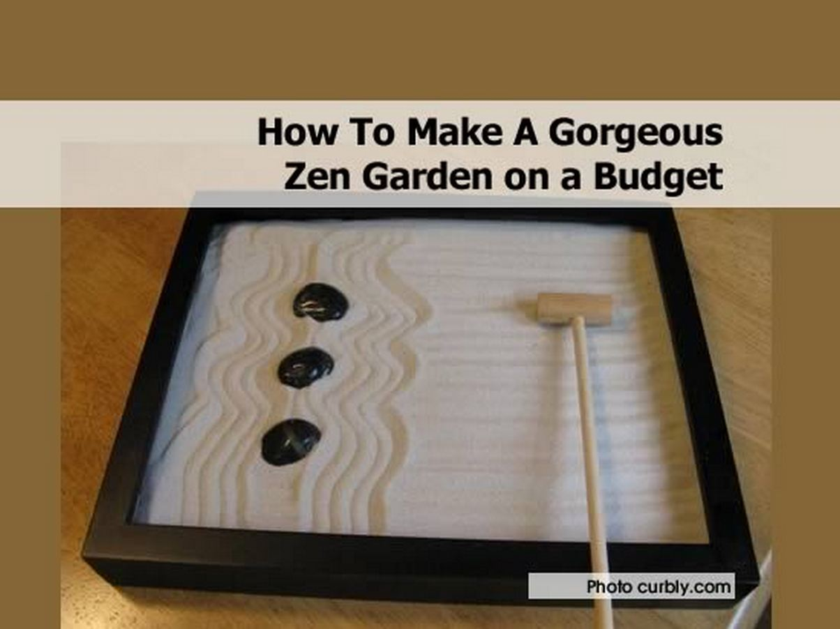 How to make a gorgeous zen garden on a budget for Tips for building a house on a budget